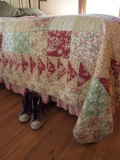 cozy quilts on the cottage beds