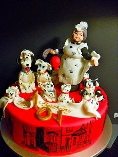 One of my favorite movies became an inspiration for this cake. Handmade sugar figurines. www.albenacakes.com