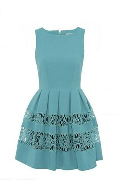 vestido con encaje azul