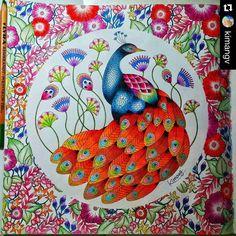 """""""Para tudo! Belíssimo #Repost @kimangv ・・・ #adultcoloring #coloring #colouring #colouringbook #calming #coloringforadults #カラーリングブック #コロリアージュ #大人の塗り絵…"""""""