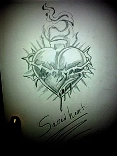sacred heart of Jesus tattoo.   I want to do a Sacred Heart Tattoo, just more delicate and authentic looking