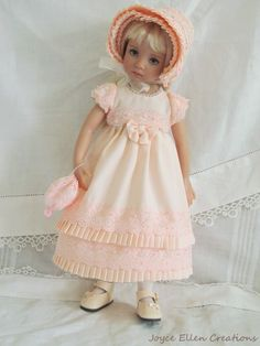 "13"" Effner Little Darling BJD fashion shell pink Regency OOAK handmade by JEC #ClothingAccessories"