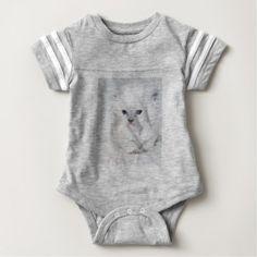 Sweet white Kitten Baby Bodysuit - cat cats kitten kitty pet love pussy