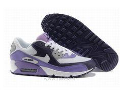 Nike Air Max 90 2013 Chaussures Homme Blanc Noir Pourpre Air Max 1 90