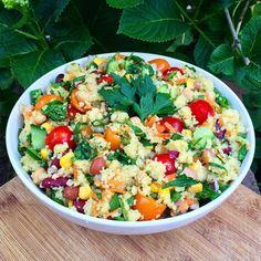 Raw Till 4 - Dinner (Couscous & Chickpea Salad.)
