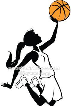 Sports  Girl-Basketball-Layup