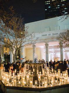candlelit courtyard   Trent Bailey #wedding