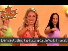 Denise Austin: Fat-Burning Cardio Walking Workout- Intervals is a fast-paced aerobic walking workout that is designed to boost metabolism kick start the heart rate increase energy and burn maximum calories through cardio interval training in which you Denise Austin, Walking Training, Walking Exercise, Walking Workouts, Cardio Pilates, Total Body Toning, Fat Burning Cardio, Belly Dancing Classes, Low Impact Workout