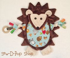 Hey, I found this really awesome Etsy listing at https://www.etsy.com/listing/265392667/hedgehog-baby-lovey-blanket-toy-teething