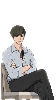 Cogan baru Line Webtoon 'Lee Suho' The secret of Angel Suho, Chica Anime Manga, Anime Art, Anime Korea, Anime Muslim, Boy Drawing, Webtoon Comics, Handsome Anime Guys, Korean Art