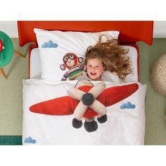 Pościel Snurk Monkey Airplane 140x200 w Decoarty.pl Templates, Future Tense