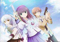 Anime Angel Beats!  Kanade Tachibana Yuri Nakamura Yuzuru Otonashi Wallpaper