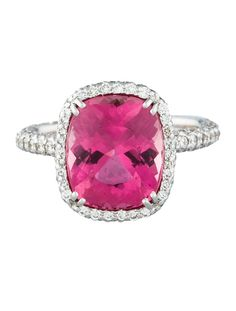 Oh just my dream ring is all.....Laura M. 4.9ctw Tourmaline & Diamond Ring - Fine Jewelry - FJR21524