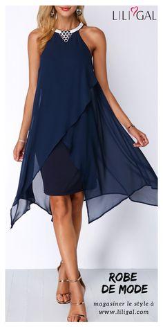 10 meilleures images du tableau Robe bleu marine   Casual gowns ... 743e64f0e3a