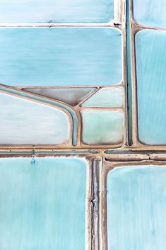 Blue Fields No 4 // Australian Blue Salt Fields by Simon Butterworth