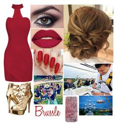 """Brussle"" by broken-and-alone on Polyvore featuring GUESS and Smashbox"