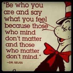 Dr Seuss - be yourself