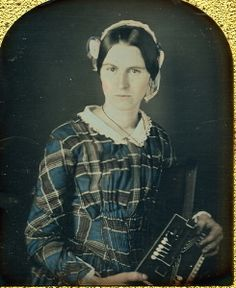 Daguerreotype: Woman w/ Rare Early Accordion, 1840s