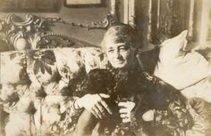 Lila Vanderbilt Sloane (Mrs. Wm. B. Osgood Field) in her living room.  She was Consuelo Vanderbilt's first cousin, the daughter of Emily Thorn Vanderbilt and W. D. Sloane..