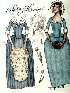 """Paperdolls - Dead Media Archive From """"Sally Hemings"""" signed by artist Donald Hendricks, Legacy Designs, publisher, 2000."""