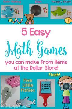 Math game ideas to m