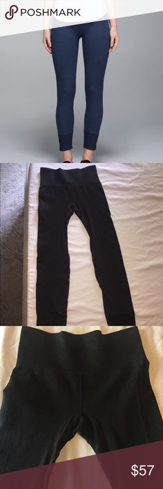 Lululemon ebb to flow pant Grey blue color. In good condition. High waisted! lululemon athletica Pants Leggings
