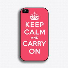 Keep Calm and Carry On - iPhone 4 Case, iPhone 4s Case, iPhone 4 Hard Case, iPhone Case. $17.99, via Etsy.