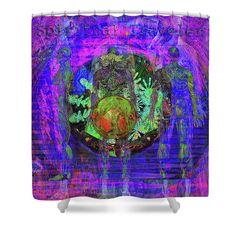 Solar Shower Curtain featuring the digital art Spiritual Traveler by Joseph Mosley
