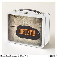 Shop Hetzer Tank Destroyer Metal Lunch Box created by OliverCook. Tank Destroyer, Metal Lunch Box, Panzer, Ww2, Tanks, Vehicle, Military, Shelled, Military Tank