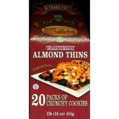 I'm learning all about Thin Addictives Cranberry Almond Thins Of Crunchy Cookies Net Wt at @Influenster!