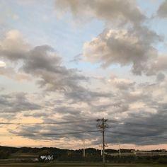 今日はお山へ行ってません ということでいつかの空  #電柱写真クラブ #sunset #ig_sunsetshots #夕暮れ #かこそら #過去pic #sky #IGersJP #sunset #ig_worldphoto #ig_japan #ig_nature #ノーフィルター #nofilter #instagram #ig_great_pics #適当タグ by sea_may_2