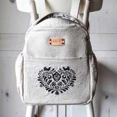 Ľanový batoh I Love FOLK No. 2 / Lu.Si.L / Fler.cz Leather Backpack, Fashion Backpack, Folk, Backpacks, My Love, Leather Backpacks, Popular, Forks, Backpack