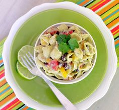 Mexican Pasta Salad with Toasted Garlic and Avocado Greek Yogurt Dressing. This is a salad that is healthy and TRULY delicious! #pasta #salad #healthy