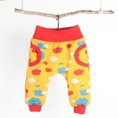 Baby pattern pants with cuffs and mock pockets by brindilleandtwig