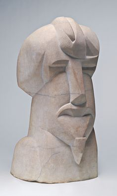 Henri Gaudier-Brzeska, jefe hierático de Ezra Pound , 1914, National Gallery of Art, Washington.