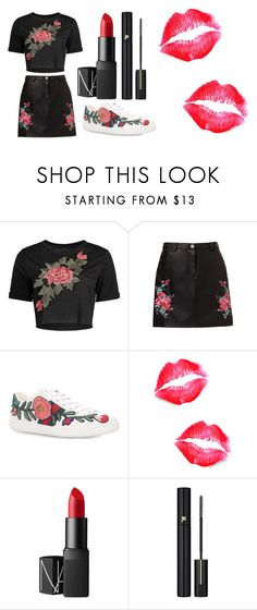 """""""Rose"""" by rsytsfn-xx on Polyvore featuring Gucci, NARS Cosmetics and Lancôme"""