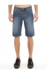 Men's #denim shorts. The Rip Curl Bully 22 Walkshorts have a fixed waistband with belt loops and a Rip Curl logo patch on the back.