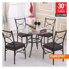 Setul Jody este alegerea perfectă pentru amenajarea unei zone de dining moderne și funcționale. #masa #dining #scaune