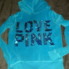 """WKND SALE PINK Victorias Secret Teal BLING Hoodie This PINK hoodie is made of super soft velour in a tropical teal color. Signature PINK dog emblem on the front and LOVE PINK in blue sequins on the back. No sequins missing in great Pre owned condition. No rips, holes, stains or tears. Nice roomy hood. Tagged xs but would fit a small too....see measurements below MEASUREMENTS 17"""" pit to pit 22"""" top of shoulder to bottom hem PINK Victoria's Secret Tops Sweatshirts & Hoodies"""