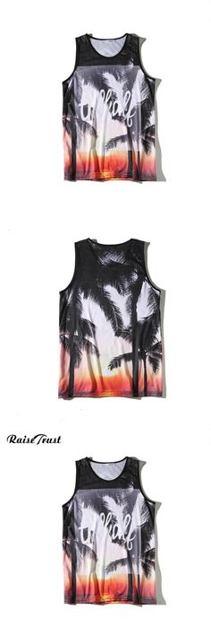 Fashion Men Tank Top Bodybuilding Fitness 3d Print hawaiian Style Brand Clothing Casual Summer Sleeveless Quick-drying Gyms tops
