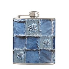 "Title : Denim Designs, Faux Flowers Blue/White on Jeans Flask  Description : ""Denim-Designs"", Flowers"", Souvenirs, Gifts, ""Digital-Designs"", ""Art-Illustrations"", Trendy, Modern, Stylish, Denim, ""Denim-Designs"", ""Blue-Jeans"", ""Distressed-Denim"", ""Frayed-Denim"", Patchwork, Patches, ""Denim-Patchwork"", Decals, ""Faux-Embroidered-Patches"", ""Worn-Jeans"", ""Girly-Chic"", ""Tattered-Jeans"", ""American-Old-West-Fashions"", ""Ripped-Jeans"", Patriotic, Symbolic  Product Description : <div>  Size: Vinyl…"