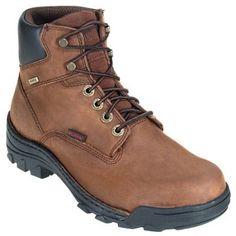 Wolverine Boots Men's Durbin Waterproof Nubuck Brown Work Boots 5484
