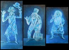 Hitchhiker Ghosts from Disneyland's Haunted by michaelevansart
