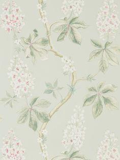 Elegant wallpaper design called Chestnut Tree from the brand new Sanderson Woodland Walk collection.