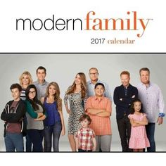 The Modern Family 2017 Wall Calendar is filled with images of the cast of the Emmy award-winning show, accompanied by the characters' funny quotes. The full-color wall calendar features studio photogr