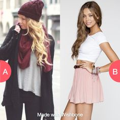 Which outfit? Click here to vote @ http://getwishboneapp.com/share/2506514