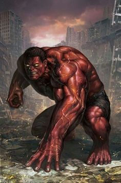Red Hulk by In-Hyuk Lee