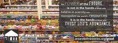 abundance versus scarcity www.areareliefministries.org/good