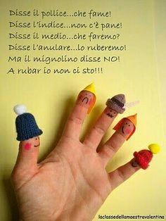 Le dita della mano: filastrocca.