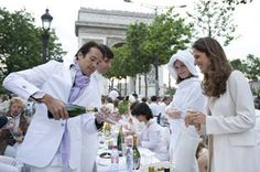 most fabulous: the White Dinner party...Paris